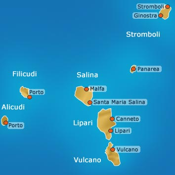 Mappa Isole Eolie