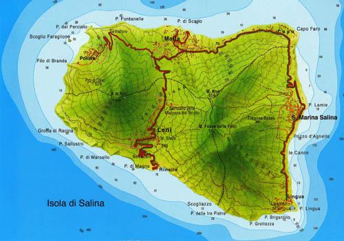 Mappa di Salina