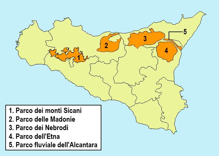 Parchi Regionali di Sicilia